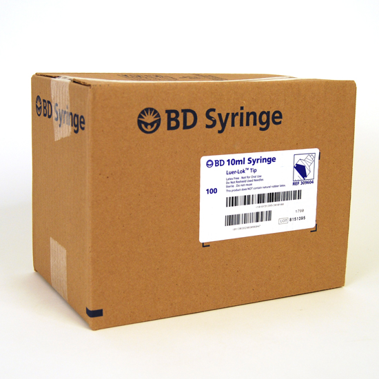 BD™ 10cc (ml) Luer-Lok™ Syringe (Case of 100)