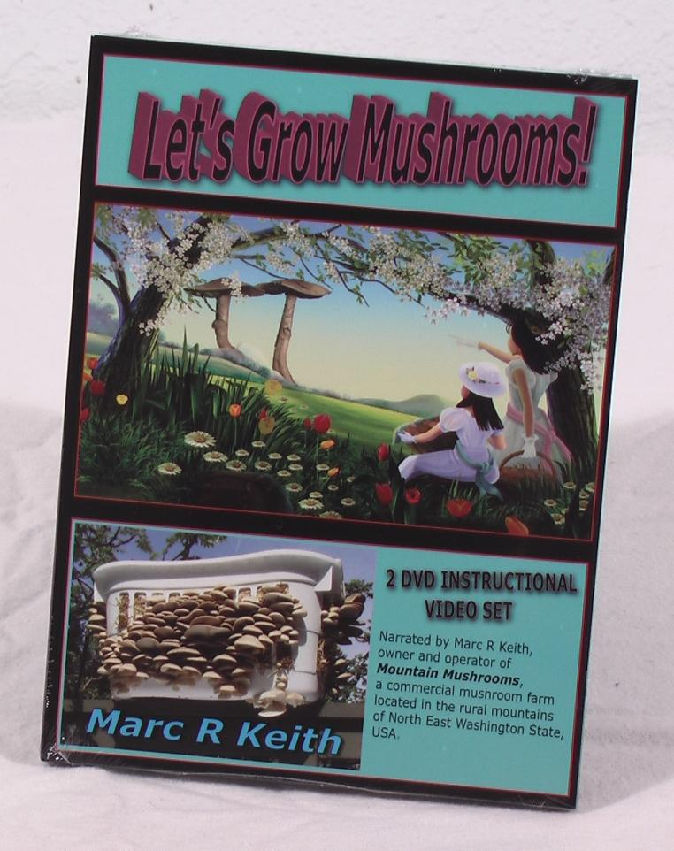 Lets Grow Mushrooms! 2 DVD Set, 3rd Edition