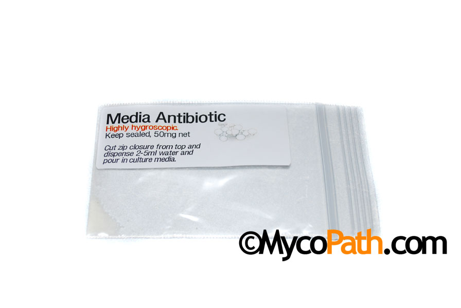Antibiotic for culture media - 50mg - Sterilizable